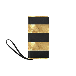 Black Gold Stripes Women's Clutch Purse (Model 1637)