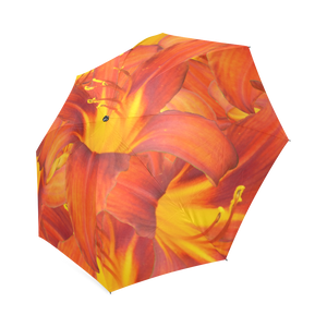Orange Daylilies Foldable Umbrella