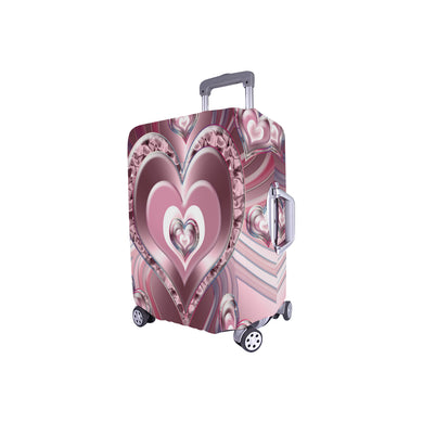 River Flowing Hearts Luggage Cover/Small 24'' x 20''