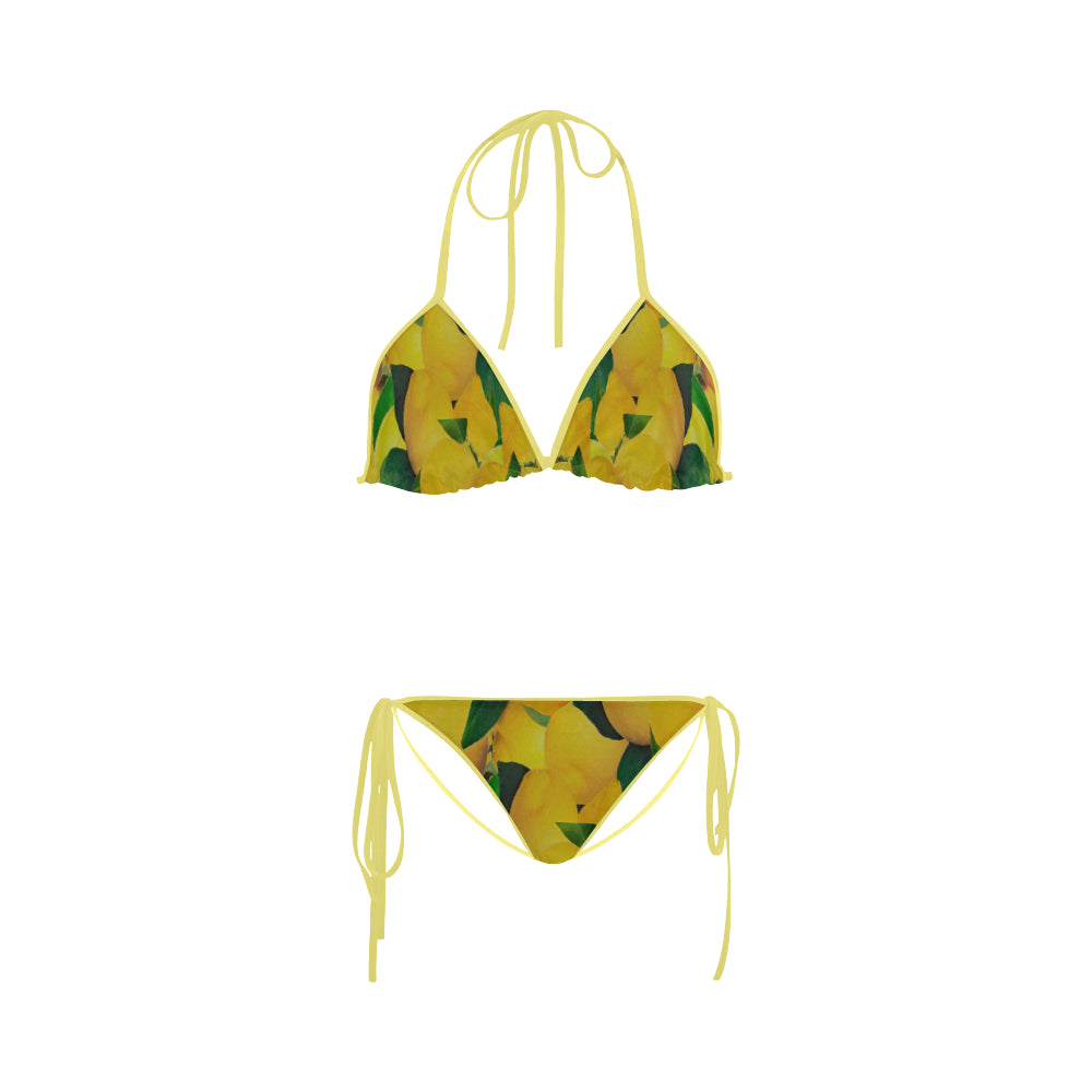 Old Gold Lemons Custom Bikini Swimsuit