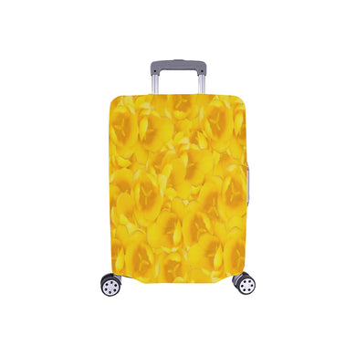 Tangerine Yellow Tulips Luggage Cover/Small 24'' x 20''