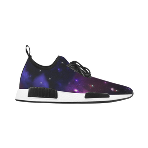 Midnight Blue Purple Galaxy Women's Draco Running Shoes (Model 025)