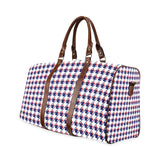 Red White Blue Houndstooth Waterproof Travel Bag/Small (Model 1639)