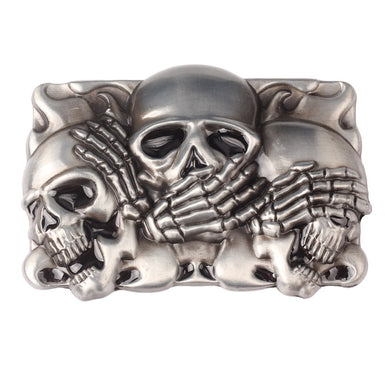 Western Skull Square Belt Buckle