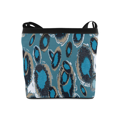 Bluish Smudge Spots Crossbody Bags (Model 1613)