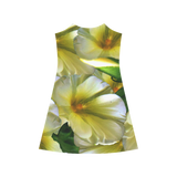 Elegant in Cream Flowers Alcestis Slip Dress (Model D05)