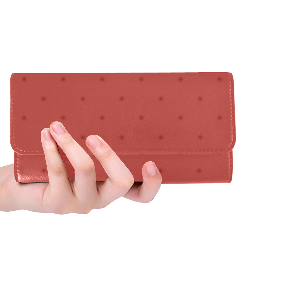 Sunset Dots Women's Trifold Wallet (Model 1675)