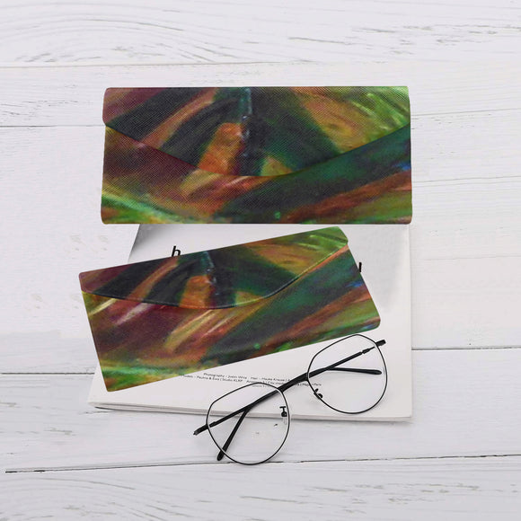 Abstract Colorful Glass Custom Foldable Glasses Case