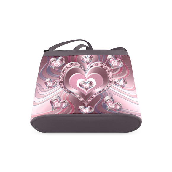 River Flowing Hearts Crossbody Bags (Model 1613)