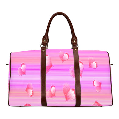 Falling Hearts Waterproof Travel Bag/Small (Model 1639)