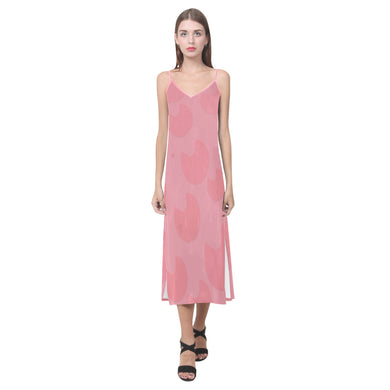 Marvelous Wewak V-Neck Open Fork Long Dress(Model D18)