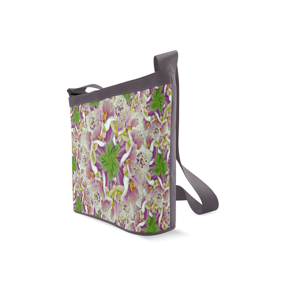 Digitalis Purpurea Flora Crossbody Bags (Model 1613)