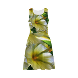 Elegant in Cream Flowers Atalanta Sundress (Model D04)