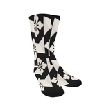 Black White Tiles Trouser Socks