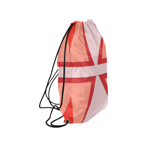 Shades of Red Patchwork Medium Drawstring Bag Model 1604 (Twin Sides) 13.8