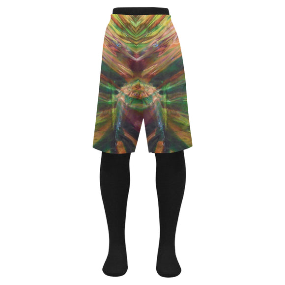 Abstract Colorful Glass Men's Swim Trunk (Model L21)