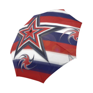 Tricolor Stars Stripes Auto-Foldable Umbrella