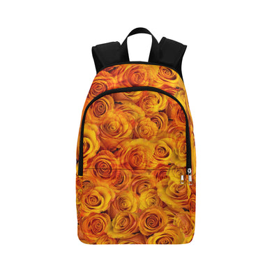 Grenadier Tangerine Roses Fabric Backpack for Adult (Model 1659)