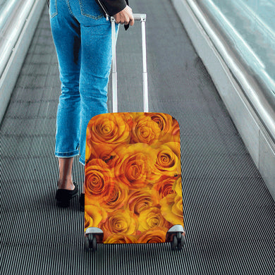 Grenadier Tangerine Roses Luggage Cover/Small 24'' x 20''