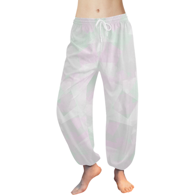 Clear Amour Snuff Mint Women's All Over Print Harem Pants (Model L18)