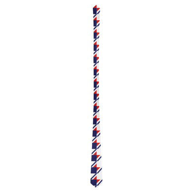 Red White Blue Houndstooth Classic Necktie (Two Sides)
