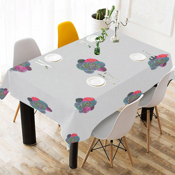 Colorful Cluster Bubbles Cotton Linen Tablecloth 52