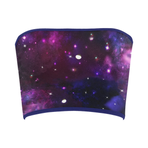 Midnight Blue Purple Galaxy Bandeau Top