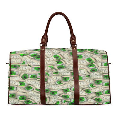Bushy Green Eyebrows Waterproof Travel Bag/Small (Model 1639)