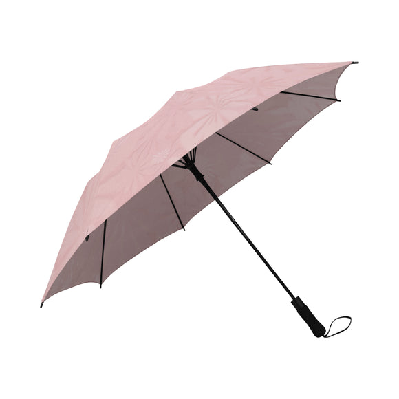 Mandys Pink Azaleas Semi-Automatic Foldable Umbrella (Model U05)
