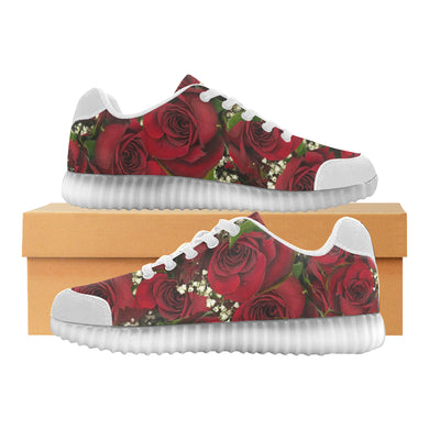 Carmine Roses Light Up Casual Women's Shoes (Model 046)