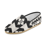 Black White Tiles Women's Casual Shoes (Model 004)