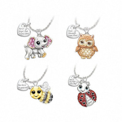 Byfa 1pc Alloy Cute Animal Bee Owl Lady Pendant Snake Necklace