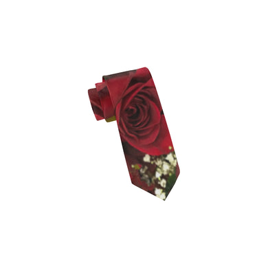 Carmine Roses Classic Necktie (Two Sides)
