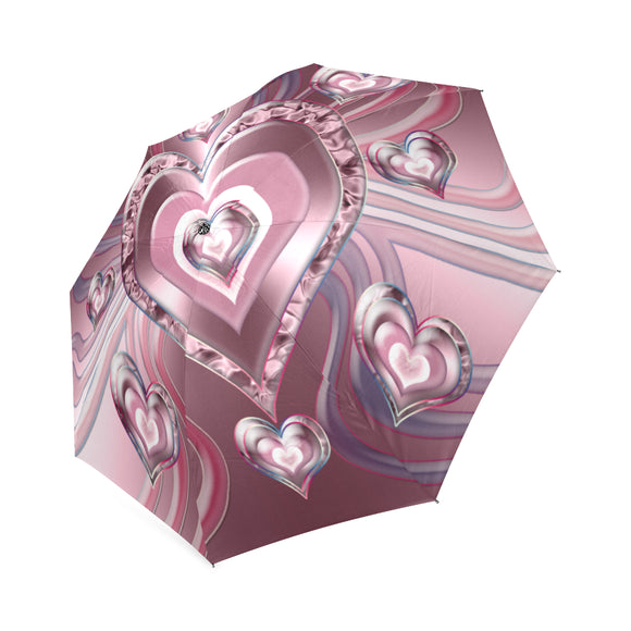 River Flowing Hearts Foldable Umbrella