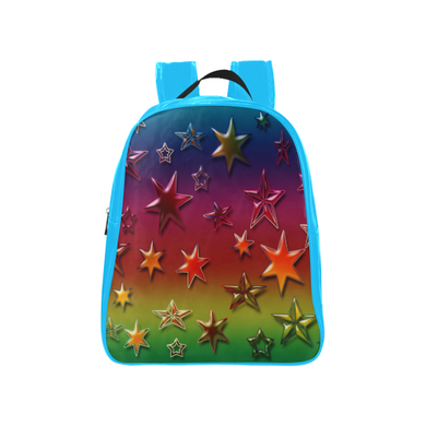 Rainbow Stars School Backpack (Model 1601)(Medium)