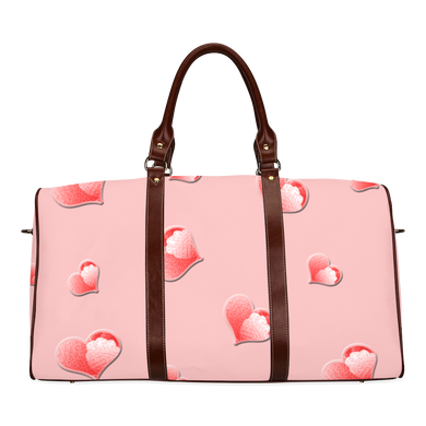 Floating Hearts Waterproof Travel Bag/Small (Model 1639)