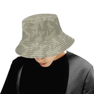 Eagle Taupe Gray All Over Print Bucket Hat