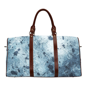 Water Blue Splatter Waterproof Travel Bag/Small (Model 1639)
