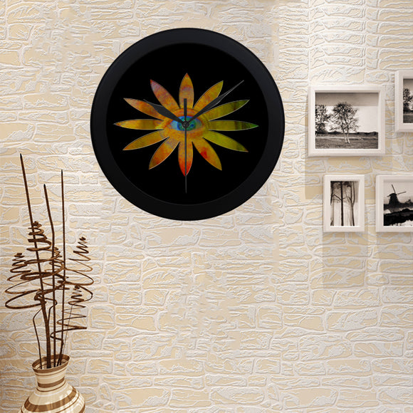 Yellowish Eye Flower Circular Plastic Wall clock