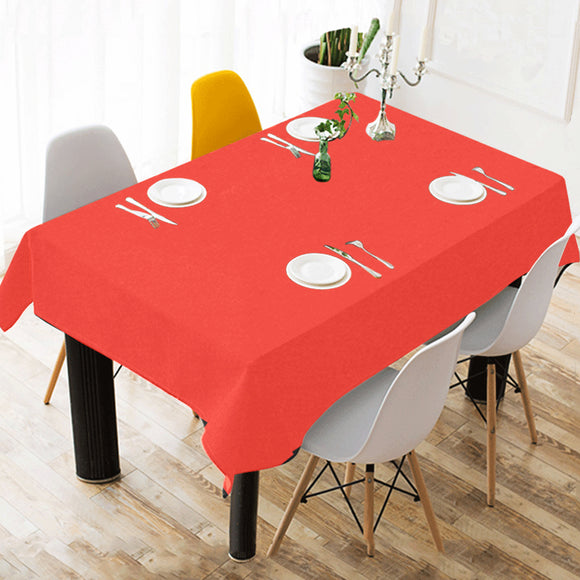 Pomegranate Solid Cotton Linen Tablecloth 52