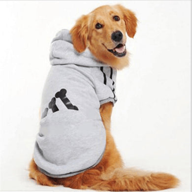 All Seasons Letter Pattern 100% Cotton Small to Large Dog Apparel Pet Coat