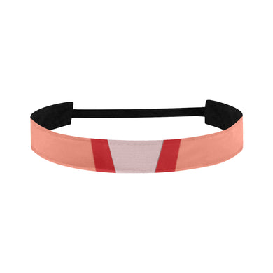 Shades of Red Patchwork Sports Headband