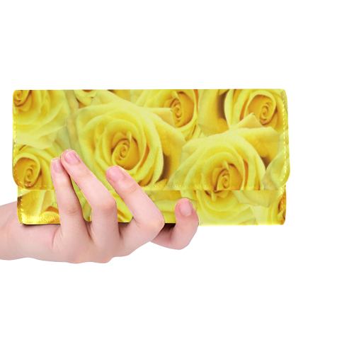 Candlelight Roses Women's Trifold Wallet (Model 1675)