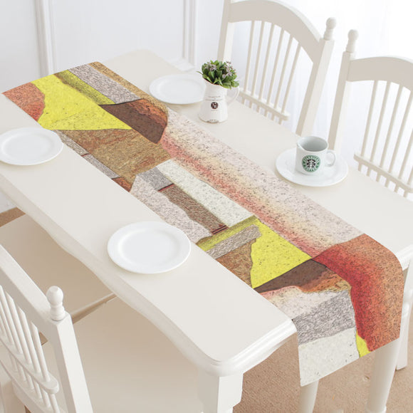 Cararra Harvest Gold Table Runner 14x72 inch