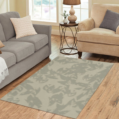 Eagle Taupe Gray Area Rug 5'3''x4'