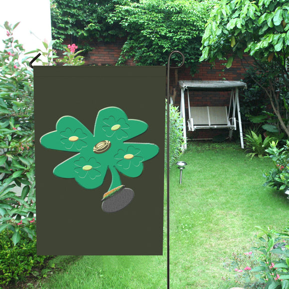Shamrock Green Clover Garden Flag 28''x40'' (Without Flagpole)