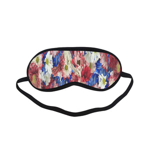 Red White Blue Flora Sleeping Mask