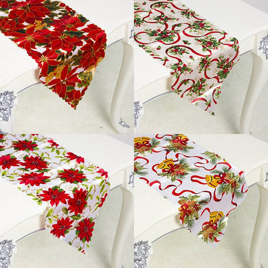 Christmas Mat Flag Home Party Decorative Tapestry Table Runners