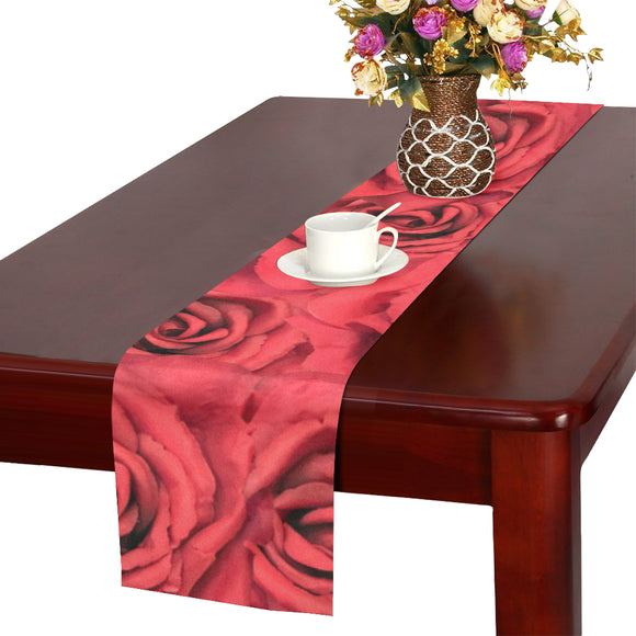 Radical Red Roses Table Runner 14x72 inch