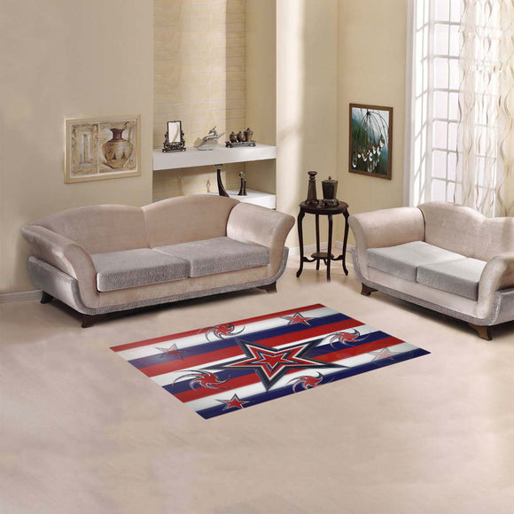 Tricolor Stars Stripes Area Rug 2'7